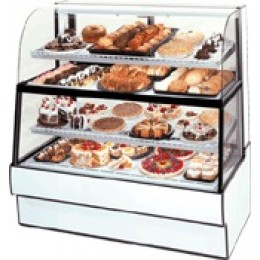 Federal CGR3660DZH Curved Glass Horizontal Dual Zone Bakery Case Refrigerated Bottom Non-Refrigerated Top 36