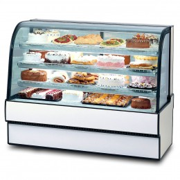 Federal CGR5048 Curved Glass Refrigerated Bakery Case 50