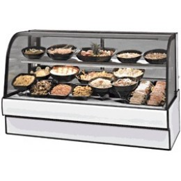 Federal CGR5048CD Curved Glass Refrigerated Deli Case 50