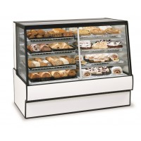 Federal SGR5942DZ High Volume Vertical Dual Zone Bakery Case Refrigerated Left Non-Refrigerated Right 59