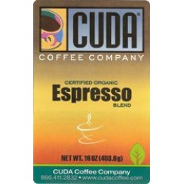 Cuda Coffee Certified Organic Espresso Blend 1lb