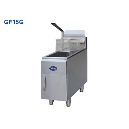 Globe GF15G Countertop Deep Fryer 15lb Oil Cpty 20-25lb Food Cpty Natural Gas 26.5K BTU 2 Burner