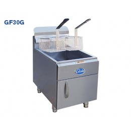 Globe GF30G Countertop Deep Fryer 30lb Oil Cpty 40-50lb Food Cpty Natural Gas 53K BTU 4 Burner