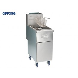 Globe GFF35G Floor Style Deep Fryer 35lb Oil Cpty 14