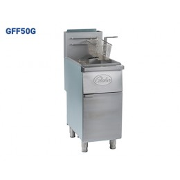 Globe GFF50G Floor Style Deep Fryer 50lb Oil Cpty 14