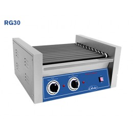 Globe RG30 Countertop Roller Grill 30 Hot Dog Capacity 510 Per Hour 120v 5-15P 1430w