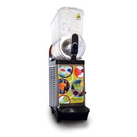 Gold Medal 1113 Single Bowl Frozen Drink Slush Machine Black with Clear Lids 120V