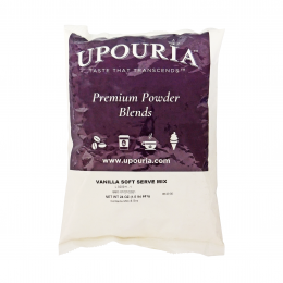 Gold Medal 1420 Vanilla Upouria Soft Serve Mix 1.5lb Bags 7/CS