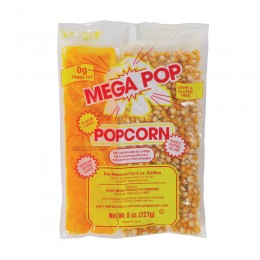 Gold Medal 2836 Mega 6oz Popcorn Corn, Coconut Oil Blend, Salt Kits 36/CS