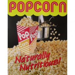 Gold Medal 2988 Popcorn Poster Natural & Delicious