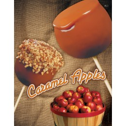 Gold Medal 4018 Caramel Apple Poster Laminated