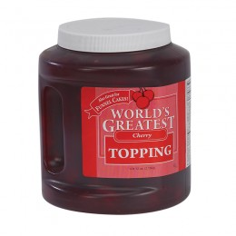 Gold Medal 5138 Worlds Greatest 66oz Topping Cherry 3/CS