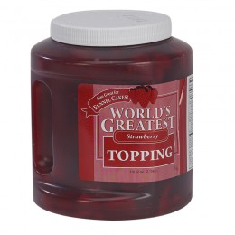 Gold Medal Worlds Greatest 66oz Topping Strawberry 3/CS