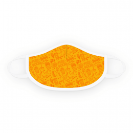 Gold Medal 6666 Orange & Yellow Fun Foods Face Covering