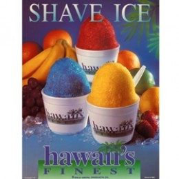 Gold Medal 1979 Hawaiis Laminated Finest Shave Ice Poster