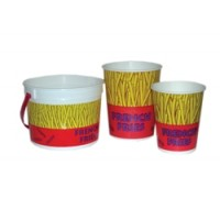 Gold Medal 2301 French Fry Cup 16 oz Plastic 1000/CS