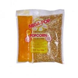 Gold Medal 2839 Mega Popcorn 12-14oz Corn, Coconut Oil Blend, Salt Kits 24/CS