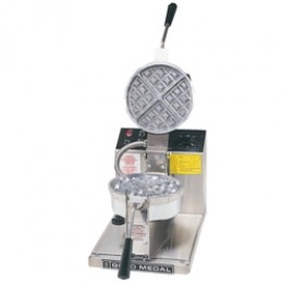 Gold Medal 5042 Belgian Waffle Baker Round w/ Removable Grid
