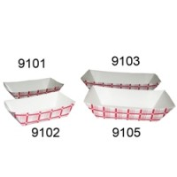 Gold Medal 9105 #5 Red and White Food Tray 500/CS