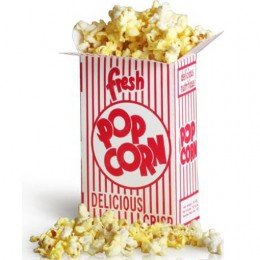 Great Western 11057 Close Top .95oz Popcorn Box 2E 500/CS