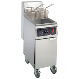 Cecilware EFS40 40 lb Floor Electric Fryer Stainless Steel 240V / 3PH
