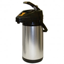 Glass Lined, Stainless Steel, Lever Airpot - 1.9L