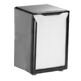 Table Top Napkin Dispenser Low Fold Black