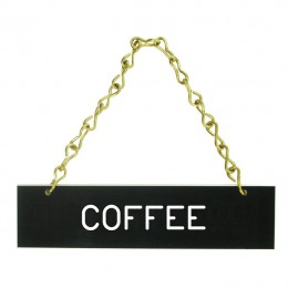 Laminated Hanging Coffee Signs Coffee