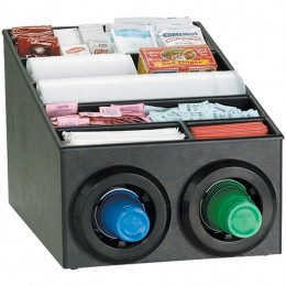 Dispense-Rite Cup Dispensing Cabinet w/Condiment Rack