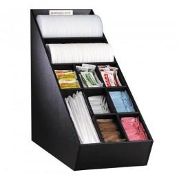 Dispense-Rite NLO1B Lid, Straw & Condiment Organizer Narrow