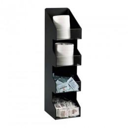 Dispense-Rite Lid & Condiment Organizer - 4 Section - Vertical