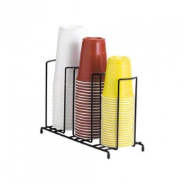 Dispense-Rite Cup and Lid Dispenser Vertical - 3 Section