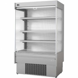 Infrico EML 12 INOX M2 Air Curtain Refrigerator, 31.5 cu ft, 4 Shelves