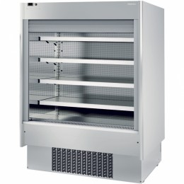 Infrico EML18 INOX PM2 Air Curtain Refrigerator, 47.3 cu ft, 4 Shelves