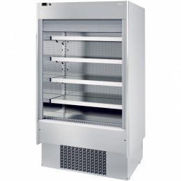Infrico EML 9 INOX PM2 Air Curtain Refrigerator, 23.7 cu ft, 4 Shelves