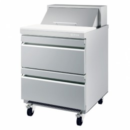 Infrico UC27P 2D Drawerd Sandwitch/Salad Prep Table-8 cu.ft.