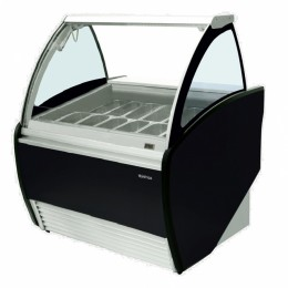 Infrico VAR1000H GELATO Curved Glass Display Case-2.47 cu.ft