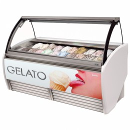 Infrico VAR2000H GELATO Curved Glass Display Case-4.95 cu.ft.