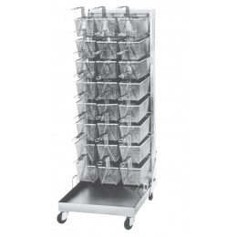 Keating 003915 Portable 24 Capacity Basket Rack