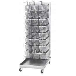 Keating 003916 Portable 32 Capacity Basket Rack