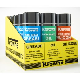 Krowne 30-210 - Food Grade Lubricants 12 Can Display Case