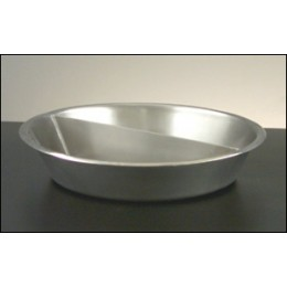 Legion 324172 Round Food Pan Full Size with Partition Stainless Steel 3 Gallon
