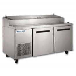 Maxx Cold MXCPP70 Pizza Preparation Table with 9 Pans 22 cu. ft.