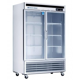 Maxx Cold MXCR-49GD Double Glass Door Refrigerator 49 Cu Ft
