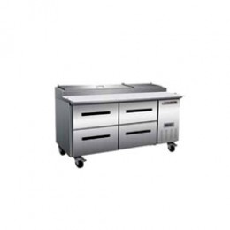 Maxx Cold MXCPP70-DLR Pizza Preparation Table with 4 Drawers