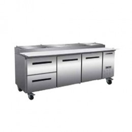 Maxx Cold MXCPP92-DL Pizza Preparation Table with 2 Drawers Left, 1 Door Right