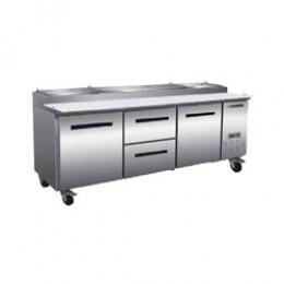 Maxx Cold MXCPP92-DM Pizza Preparation Table with 2 Drawers Center, 1 Door Left, 2 Door Right