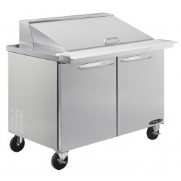 Kool-It KSTM-36-2 Stainless Steel Megatop Sandwich Prep Table, 36.4