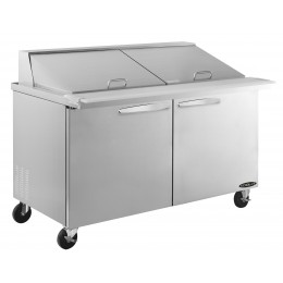 Kool-It KSTM-60-2 Stainless Steel Megatop Sandwich Prep Table, 60.4