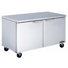 Kool-It KUCF-60-2 Undercounter Double Door Freezer 60.4